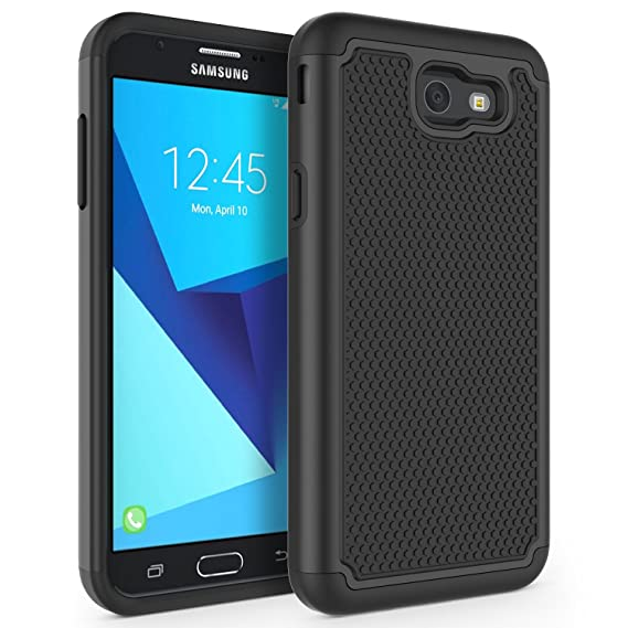 online store 589d1 a8fe8 Case for Samsung Galaxy J7 V 2017 (1st Gen)/ Galaxy J7 2017 / Galaxy J7  Prime/Galaxy J7 Perx/Galaxy J7 Sky Pro/Galaxy Halo, SYONER [Shockproof] ...