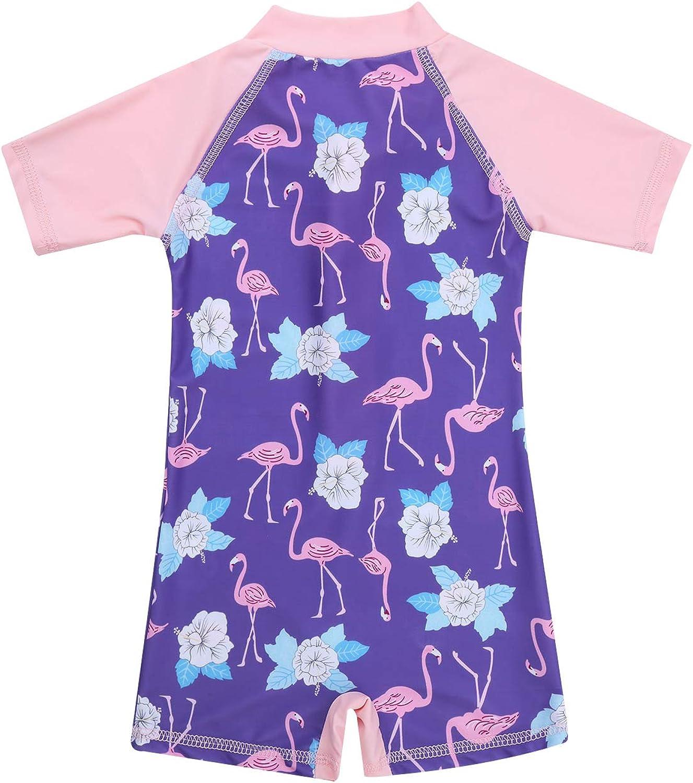 Bodysuit Swimwear iEFiEL Baby//Toddler Girls Rash Guard Swimsuit Shirt Tops Long Sleeve Floral Sun Protection UPF 50