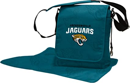 Wild Sports NFL Jacksonville Jaguars Messenger Diaper Bag 13.25 x 12.25 x 5.75-Inch Teal