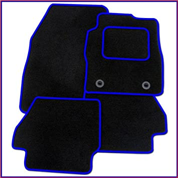 Tailored Carpet Car Floor BLACK MATS BLUE EDGING VAUXHALL MOKKA X 2012 ON