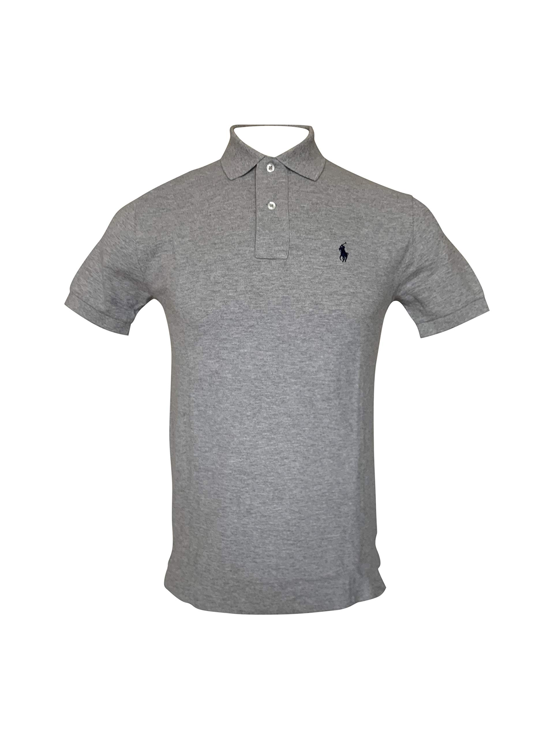 Polo Ralph Lauren- Classic Fit Mesh Polo (X-Small, Andover Heather)