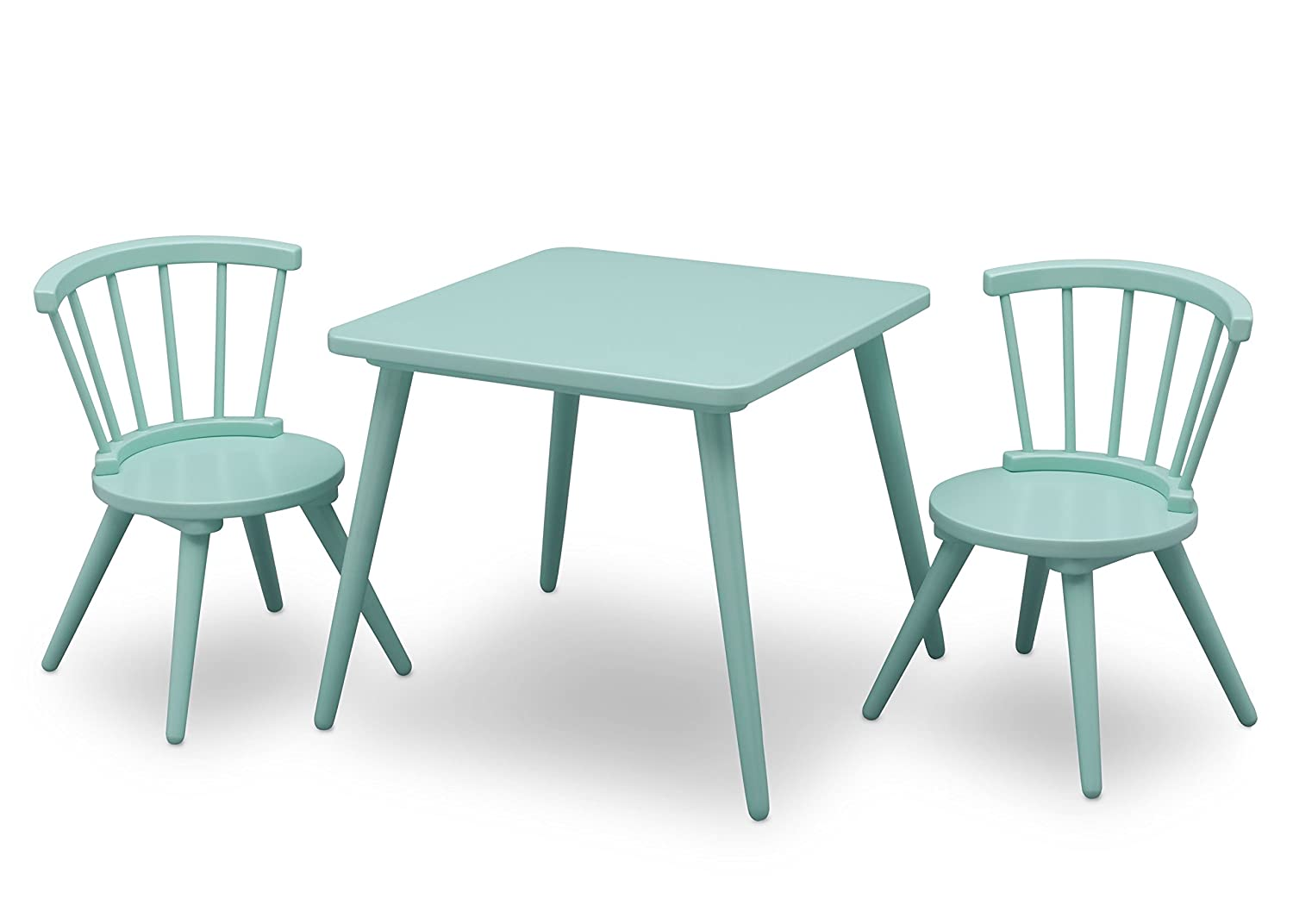 Delta Children Windsor Kids Wood Table and Chair Set (2 Chairs Included), Grey 531300-026
