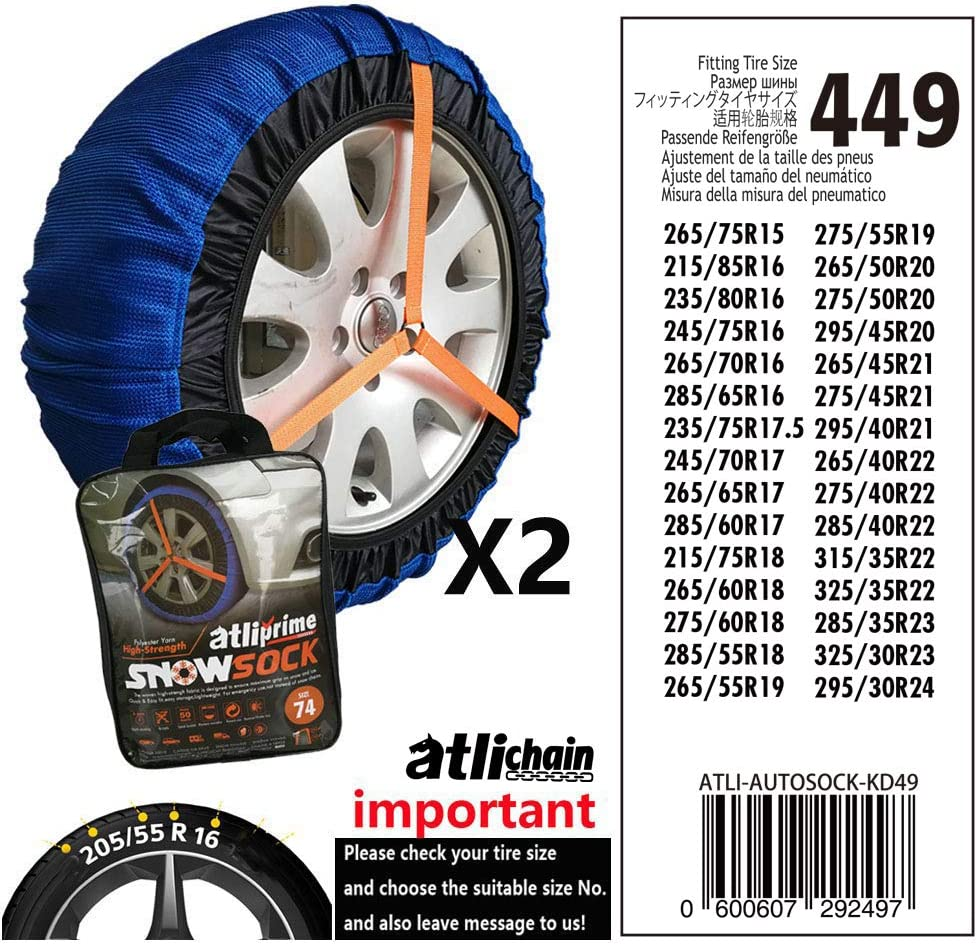 Fabric snow chain socks by ICETEX PRIME with maximum adhesion Size J AZ.3405.0051809