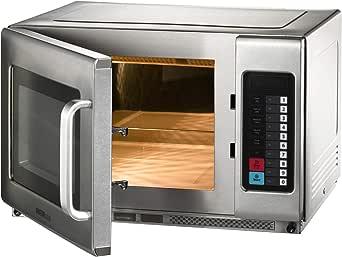 Microondas con aire caliente y función grill, 25 litros, acero ...