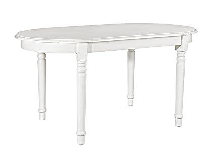 Bizzotto George Tavolo Ovale, Legno di Olmo/MDF/PU, Bianco, 180 x ...