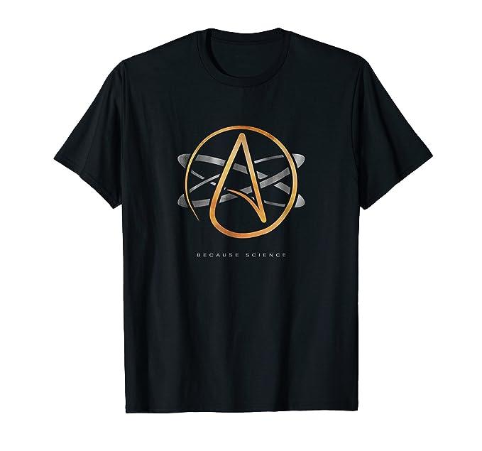 Amazon Atheist Logo Science Atom Symbol Because Science T Shirt