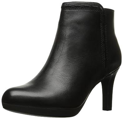 0136ef34c8 Clarks Women's Adriel Sadie Ankle Bootie, Black Leather, 5 M US ...