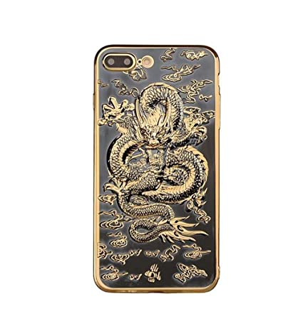 buy popular b0dd4 c8ea5 Iphone 6 plus/6s plus Dragon Case,Jesiya Super Cool Chinese Style Gold 3D  Dragon Design Electroplating Bumper Ultra Thin Case Cover For Iphone 6 ...