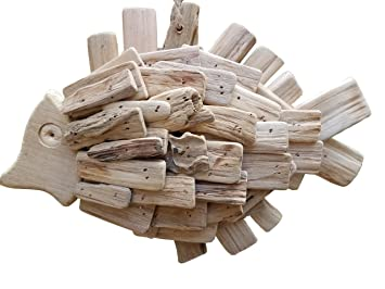 Amazon Com Gorgeous 11 5 X 9 Handcrafted Driftwood Fish Wall Art