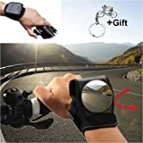 Cycling Mirrors for a Bike, Bicycle Wrist Safety Rear View Mirror for Kids Men and Women Biking Gift Gadgets, Wristband with Mirrors for Cyclists Mountain Road Riding Biking Accessories Handlebars