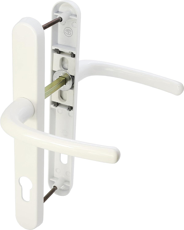 Ultra UPVC Door Handle Sprung 92PZ 215mm Screw Centres Double Glazing Pair Set Black