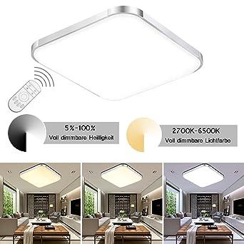ETiME® 12W LED Deckenleuchte Dimmbar 30cm Deckenlampe Modern ...