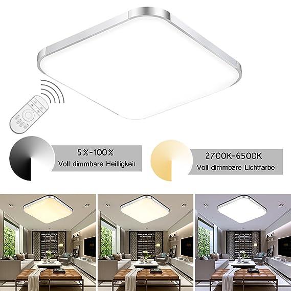 Etime 12w Led Deckenleuchte Dimmbar 30cm Deckenlampe Modern