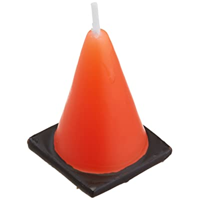 BirthdayExpress Construction Cone Molded Candles (6): Toys & Games