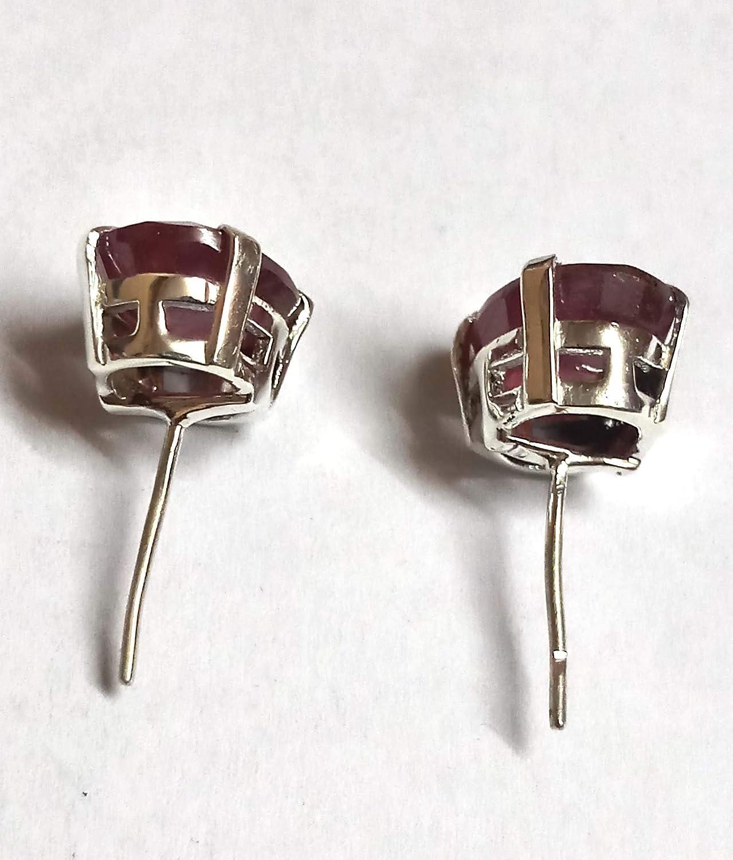Amazing Ruby Stud Earring Red Gemstone 925 Sterling Silver Studs Earring Victorian Earring
