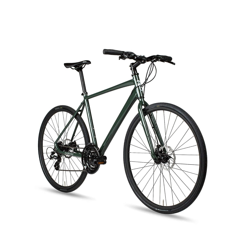 6 KUキャンバスハイブリッド24-speed自転車with Disc Brakes B07FKZ5N6T  ディープフォレスト Medium (50cm)