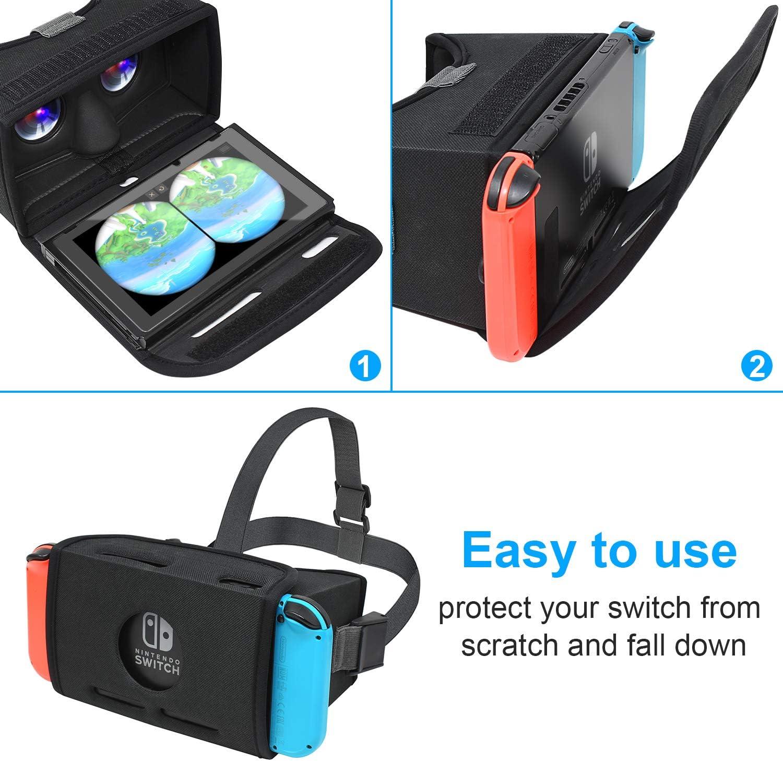 FASTSNAIL Gafas VR para Nintendo Switch, 3D Realtad Virtual para Nintendo Switch Consola para VR Juegos de Realta Virtual: Amazon.es: Electrónica
