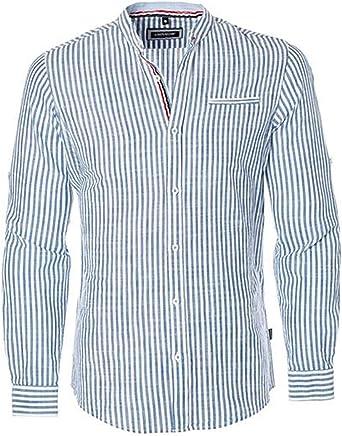 Carisma CRM8455 S - 4XL - Camisa de diseño para Hombre (Lino), diseño de Rayas, Color Azul y Blanco Azul/Blanco XL: Amazon.es: Ropa y accesorios