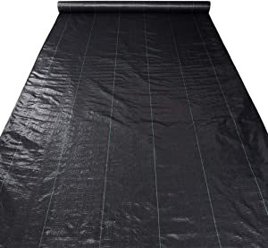 Yescom 6ft x 250ft Landscape Fabric 3oz Weed Barrier Woven PP with UV Treated Block Mat Ground Cover Outdoor Garden