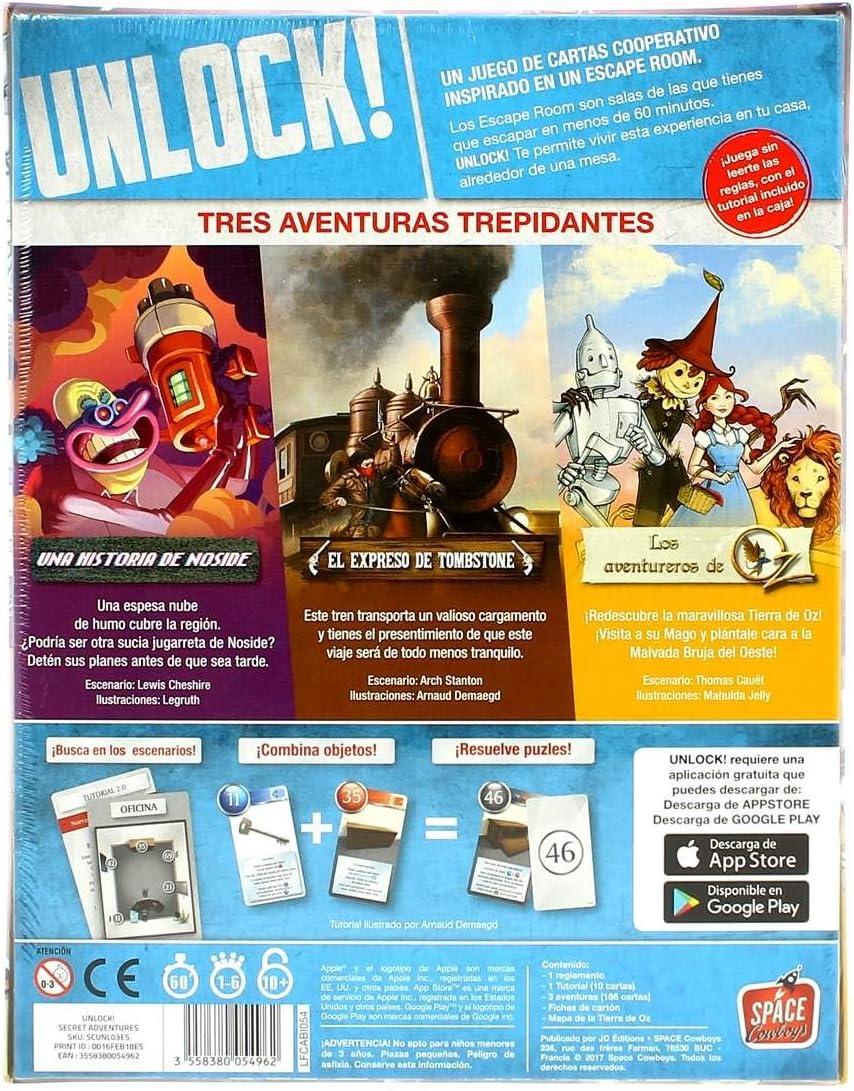 Space Cowboys- Unlock Secret Adventures - españoñ (Asmodee ...