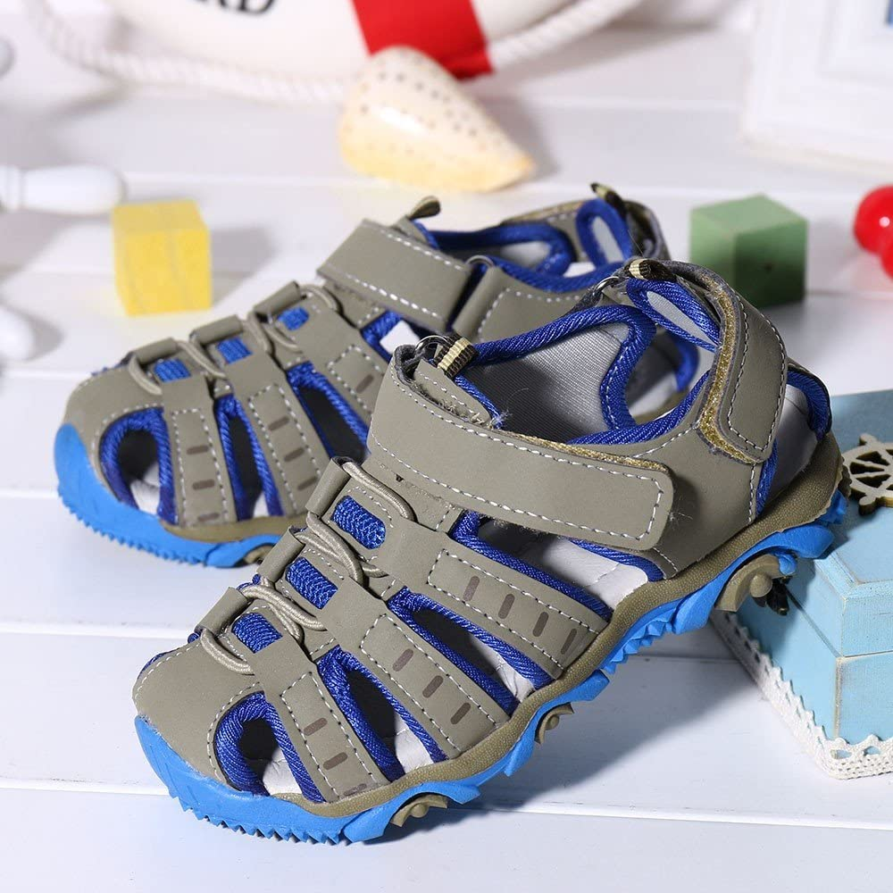 Viviplus Toddler Baby Girls Boys Outdoor Sport Sandals Fisherman Sandals  Athletic Closed Toe Anti-Slip Flat Walking Shoes for 1-9 Yrs Sports &  Outdoors Fan Shop