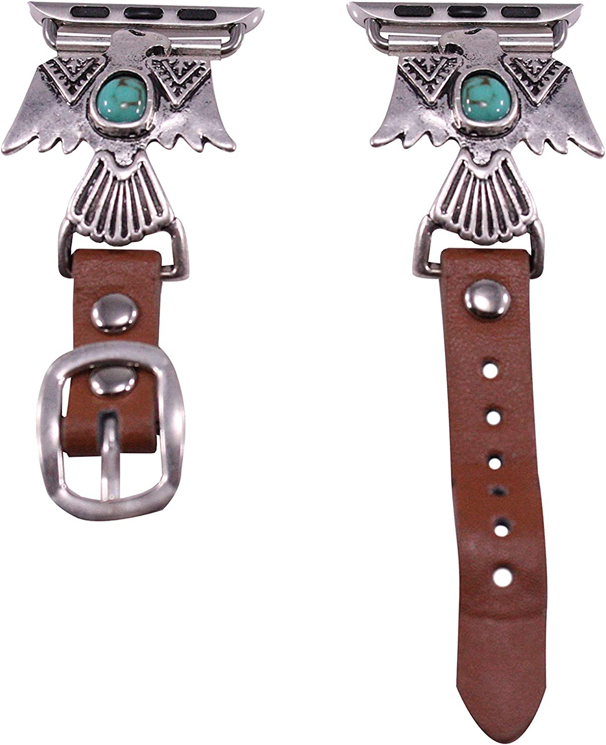 44mm/42mm Compatible for Apple Watch, Delicate Eagle with Turquoise Accent Watch Band No. 4L