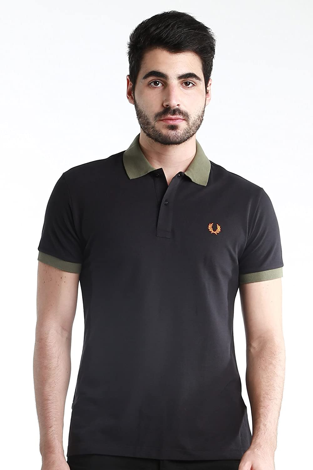 NWT Authentic Fred Perry ITALY MADE Men Twin Tipped Polo Shirt Slim Fit Cotton