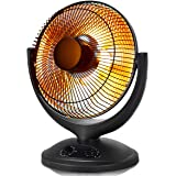 Tangkula Space Heater, Electric Portable Heater for Home and Office, with Timer and Adjustable Thermostat, Tip-Over and Overheating Protection, Dish Heater