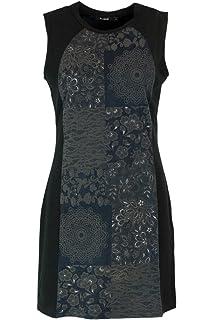 Noir Desigual M Femme Robe Volga 18wwvk93 Vest Courte S0wOZqx0