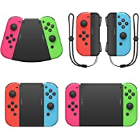 Game Handle Connector for Nintendo Switch Joy-Con, 5-in-1 Gamepad Handle with Wrist Strap for NS Switch Grip