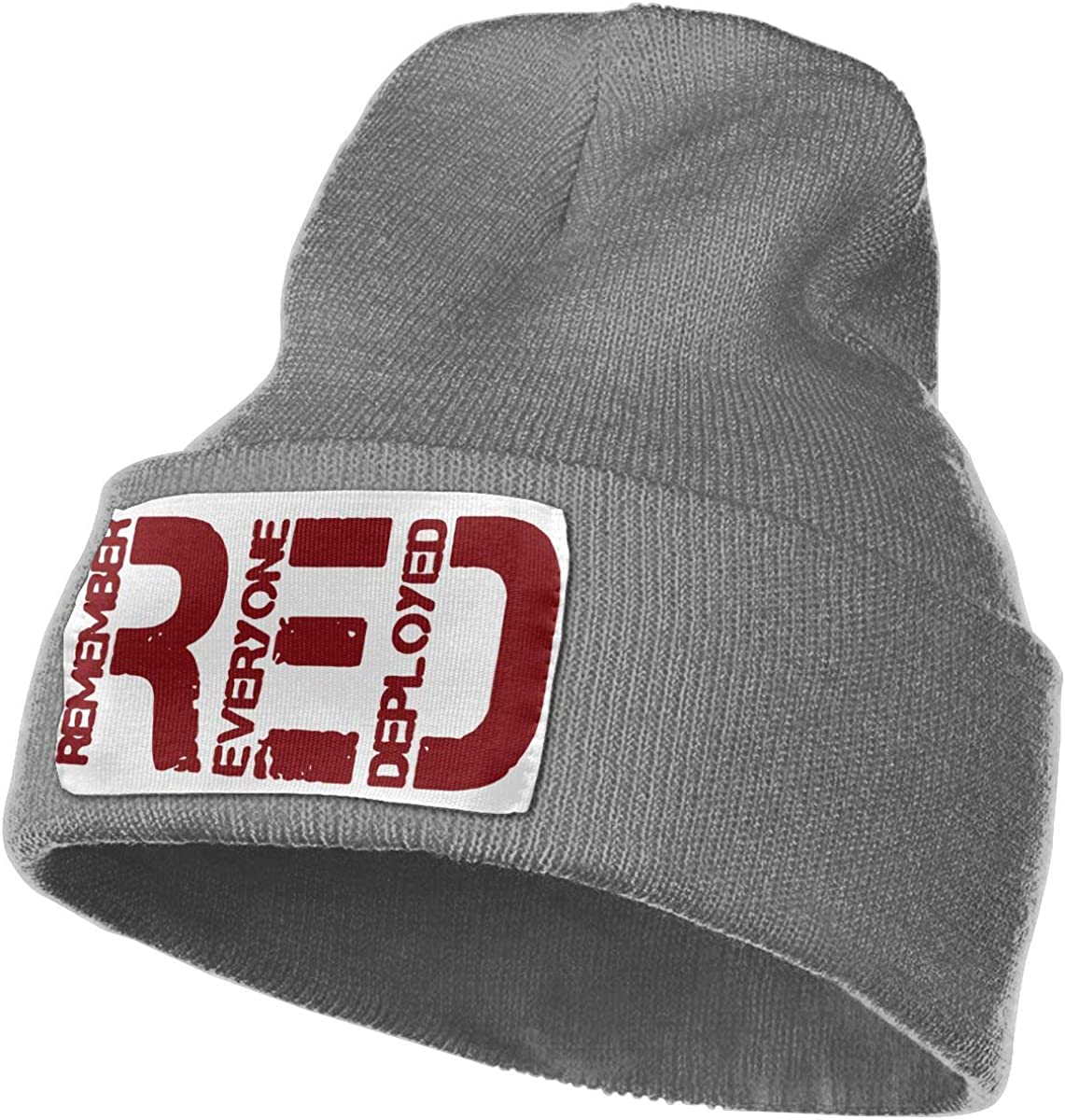 RED Remember Everyone Deployed Men /& Women Skull Caps Winter Warm Stretchy Knitting Beanie Hats