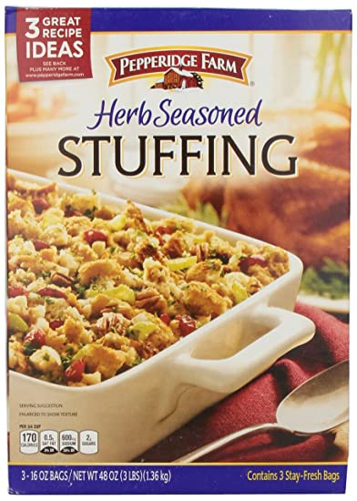 Amazon Com Pepperidge Farm Herb Seasoned Stuffing 3 16 Ounce Bags