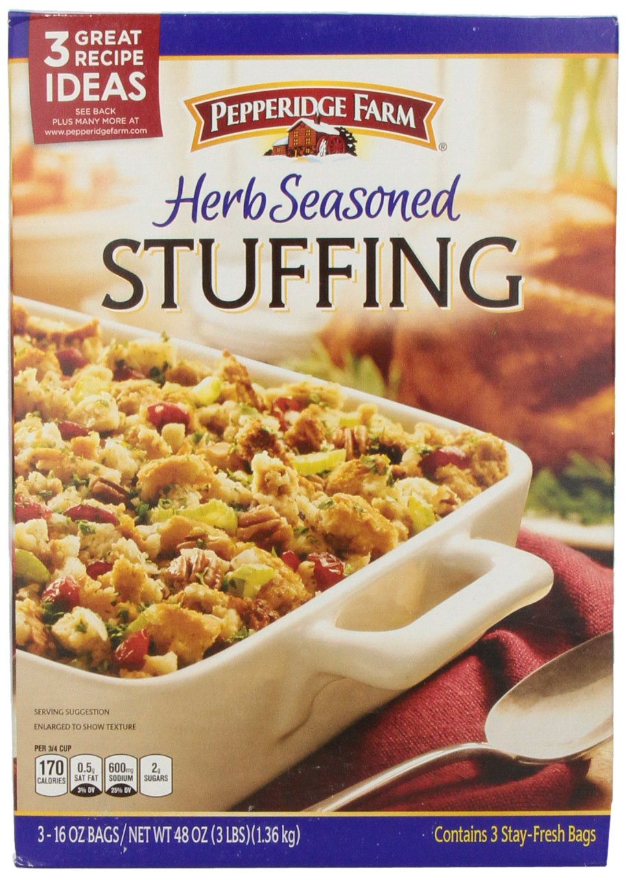 Pepperidge Farm Herb-Seasoned Stuffing, 16 Ounce Bags, 3 Count