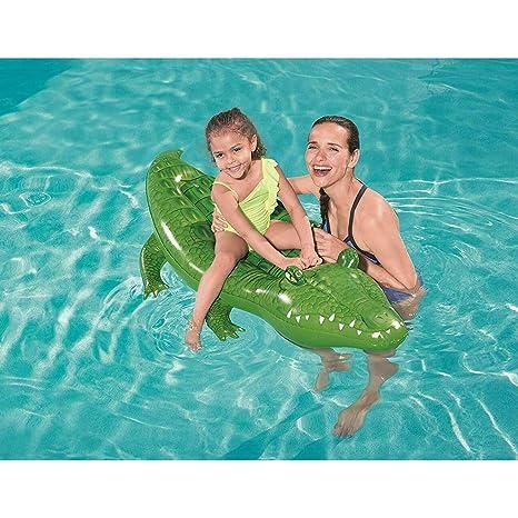 LEMON TREE SL Colchoneta Flotador Hinchable Cocodrilo para Playa o ...