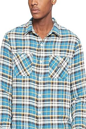 f9230b706 RALPH LAUREN Denim   Supply Men s Ward Plaid Twill Shirt Blue at ...