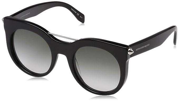 e7b7cafa32 Alexander McQueen Am0001S 001 52 Montures de lunettes, Noir (001/Black/Grey
