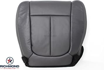 2013 2014 Ford F250 F350 Lariat Driver Bottom Perforated Leather Seat cover Blk