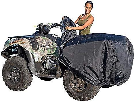 Taille M Pas de z/éro HilMe Housse de protection pour VTT VTT toutes les conditions m/ét/éorologiques Noir universelle pour ext/érieur quad moto imperm/éable et anti-poussi/ère