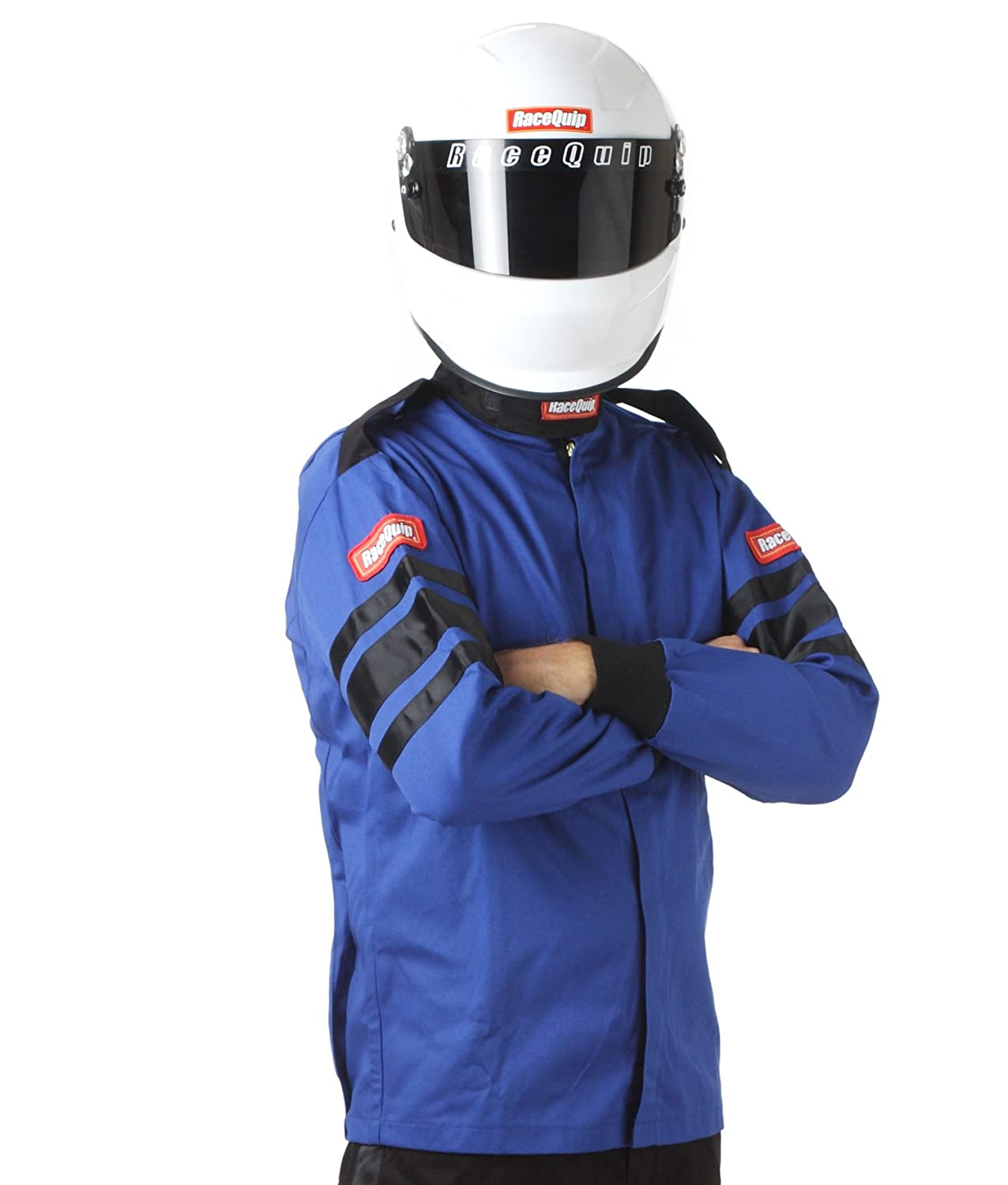 RaceQuip 111025 111 Series Large Blue SFI 3.2A/1 Single Layer Driving Jacket