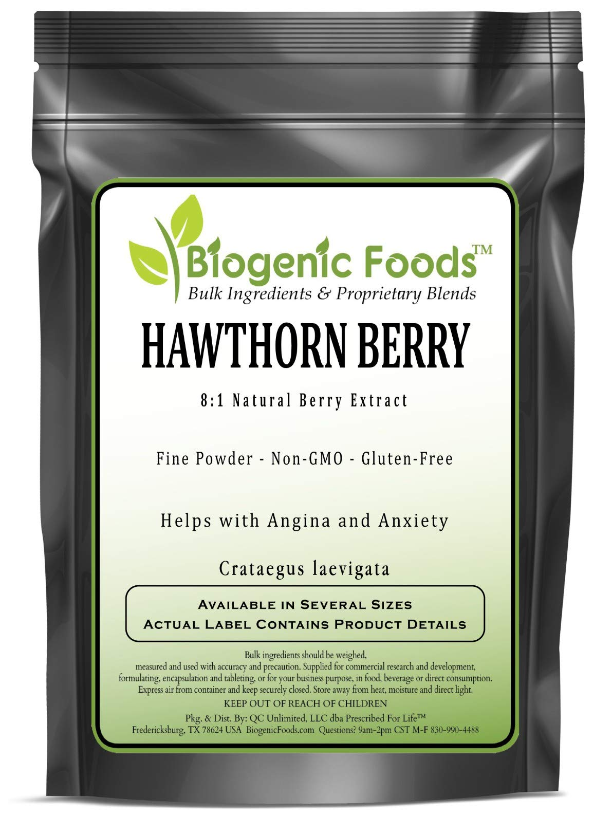 Hawthorn Berry - 8:1 Natural Berry Fine Powder Extract (Crataegus laevigata), 2 kg
