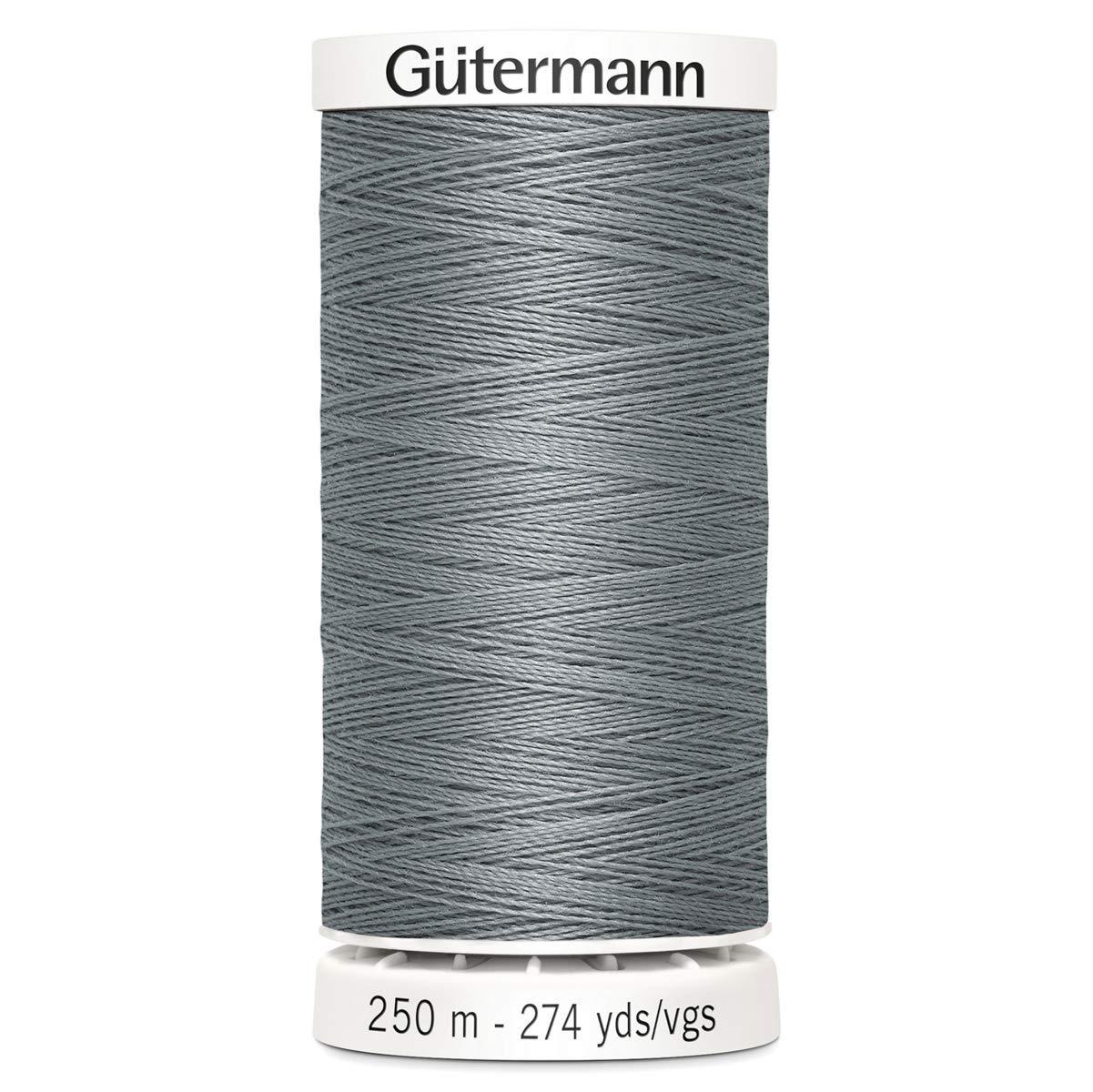 Gutermann Sew All Polyester Thread, 250Mtr, Silver Grey (0040) GUT_717878_0040-1