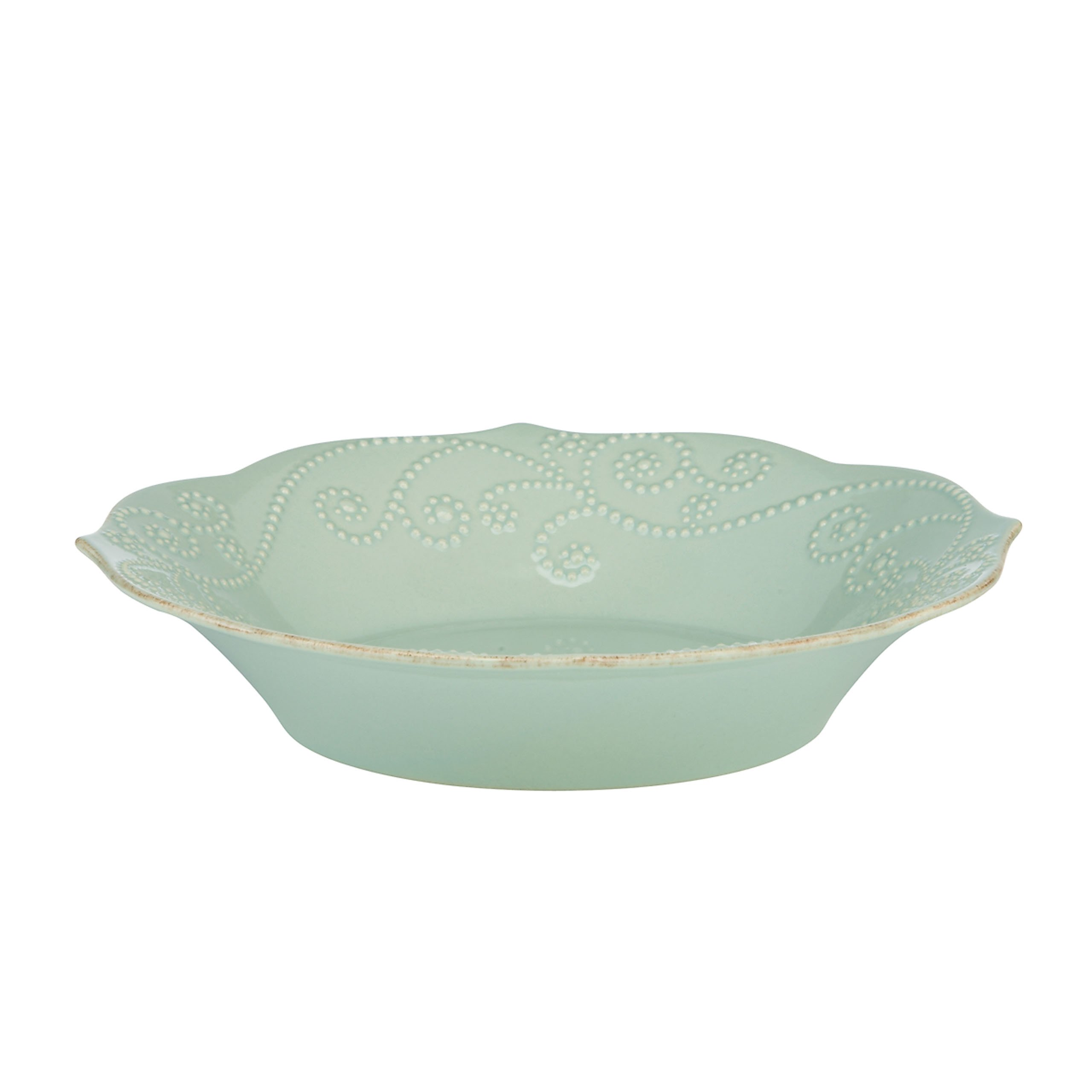 Lenox French Perle Individual Pasta Bowl, Ice Blue