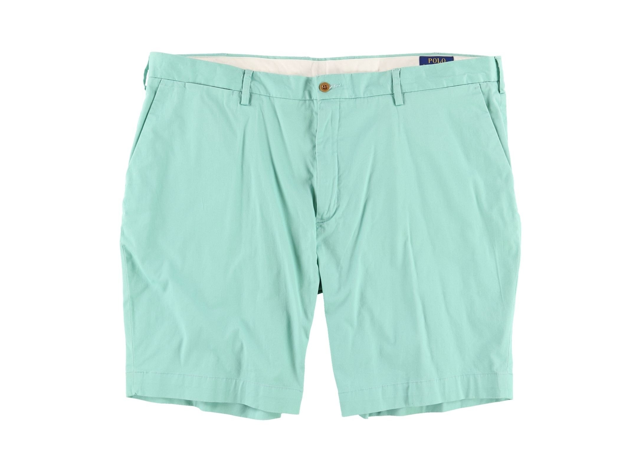 Polo Ralph Lauren Mens Classic-Fit Flat Front Casual Shorts Green 40