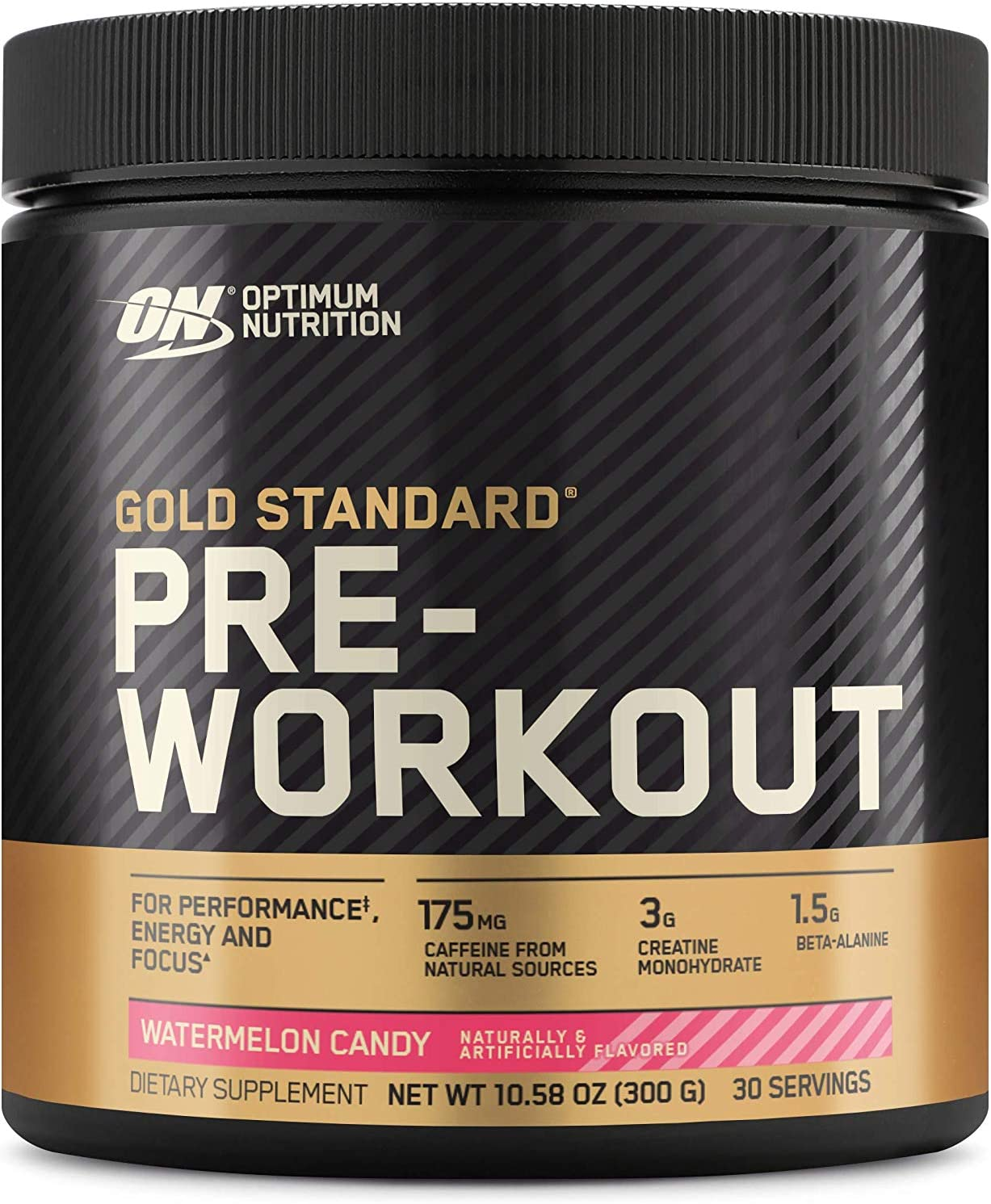 Optimum Nutrition Gold Standard Pre-Workout, Vitamin D for Immune Support, with Creatine, Beta-Alanine, and Caffeine for Energy, Keto Friendly, Watermelon Candy, 30 Servings (Packaging May Vary)