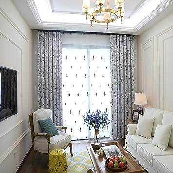 Clichtg Moderner Minimalist Vorhang Stickerei Vorhänge Geometrische Muster  Vorhänge Geeignet Für Wohnzimmer Schlafzimmer Kinderzimmer 175 X