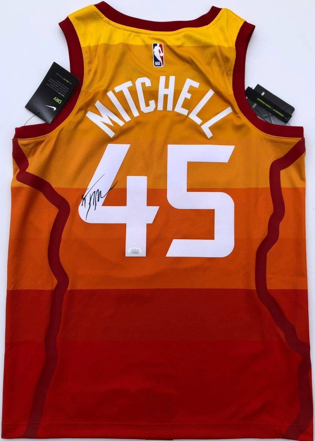 best loved 73aee 023dd Donovan Mitchell #45 Autographed Signed Nike Utah Jazz City ...