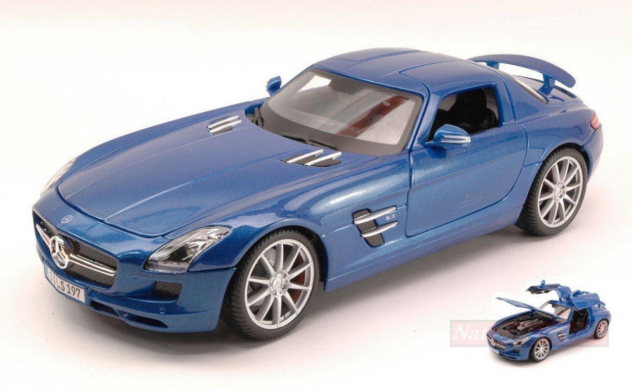 NEW MAISTO MI36196BL Mercedes SLS AMG 2010 Blau 1:18 MODELLINO DIE CAST Model