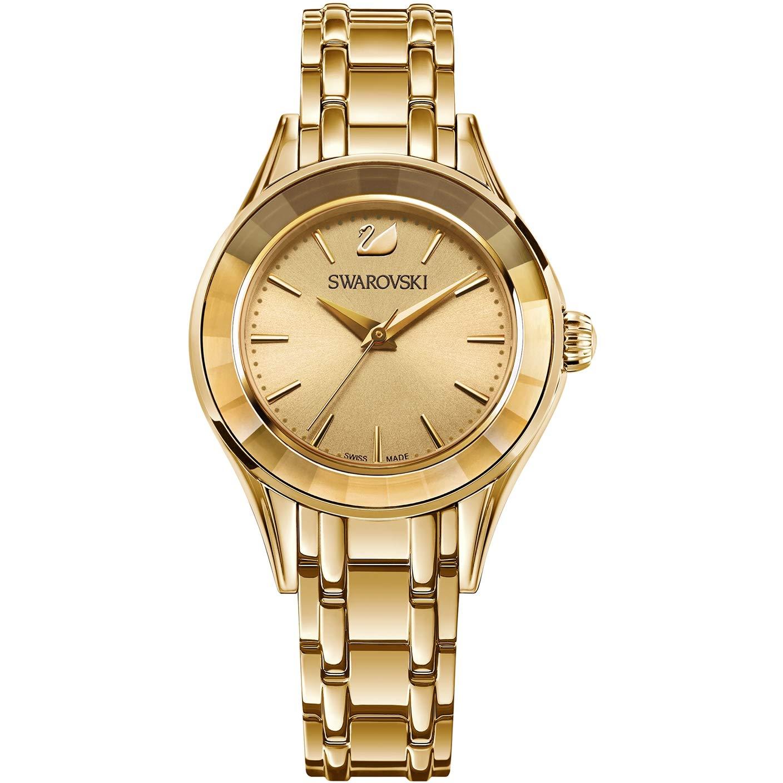 22f01ed71aa530 Amazon.com  Swarovski watch Alegria 5188840 Woman Dorado Gold Plated Steel   Watches