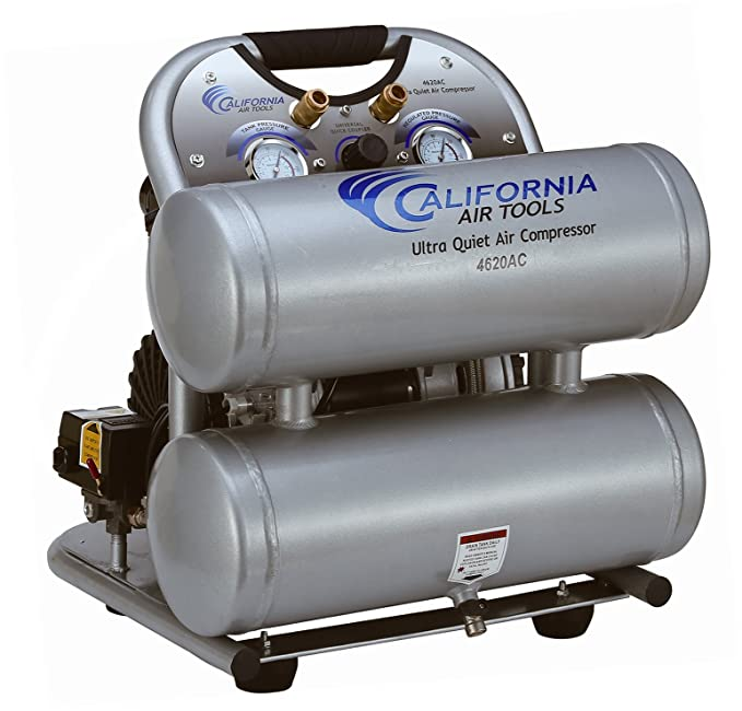 California Air Tools CAT-4620AC-22060 Ultra Quiet & Oil-Free 2.0 hp 4.0 gallon Aluminum Twin Tank Electric Portable Air Compressor, Silver - - Amazon.com