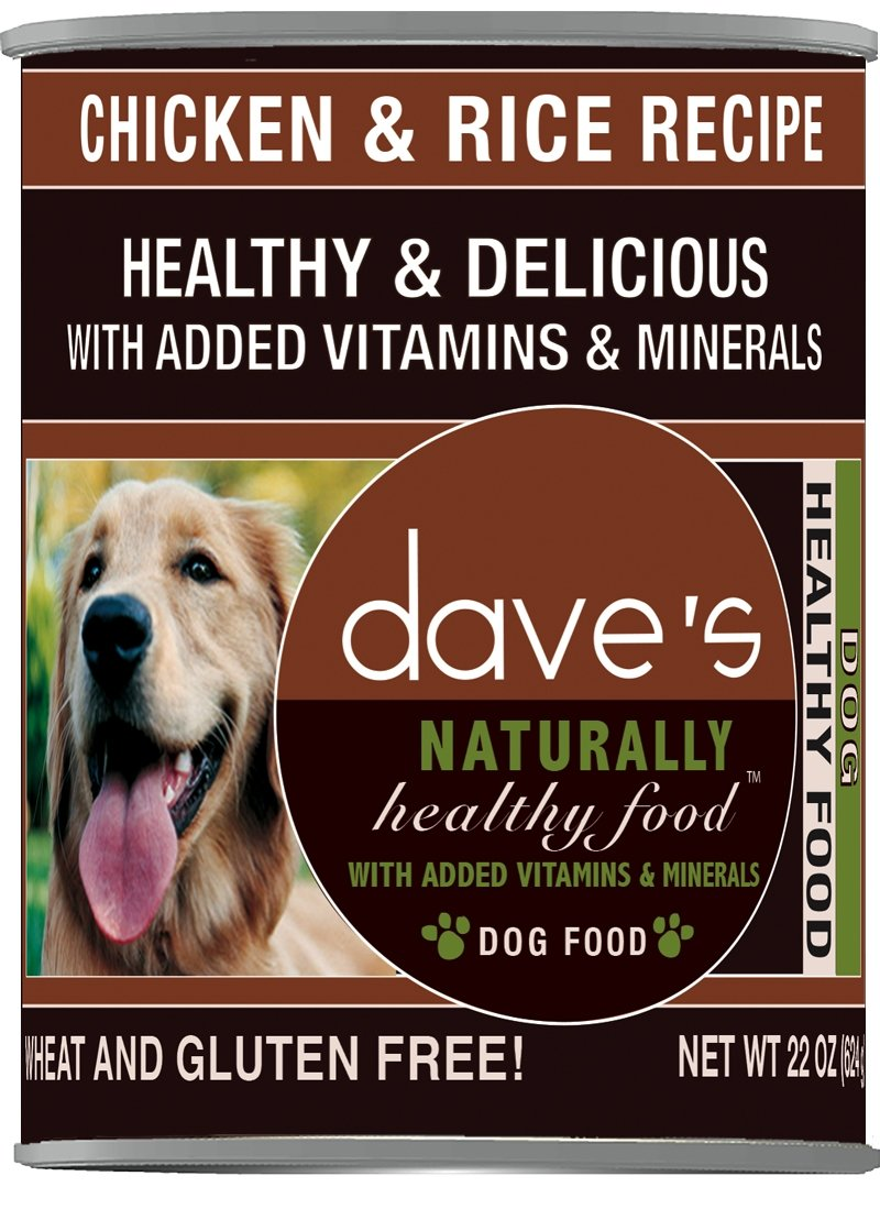 Dave'S Naturally Healthy, Chicken & Rice For Dogs, 22 Oz Can (Case Of 12 ) by Dave's Pet Food